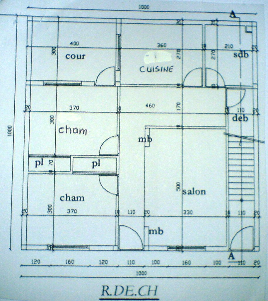 Plan d architecte de maison maroc maison moderne for Maison d architecte plan
