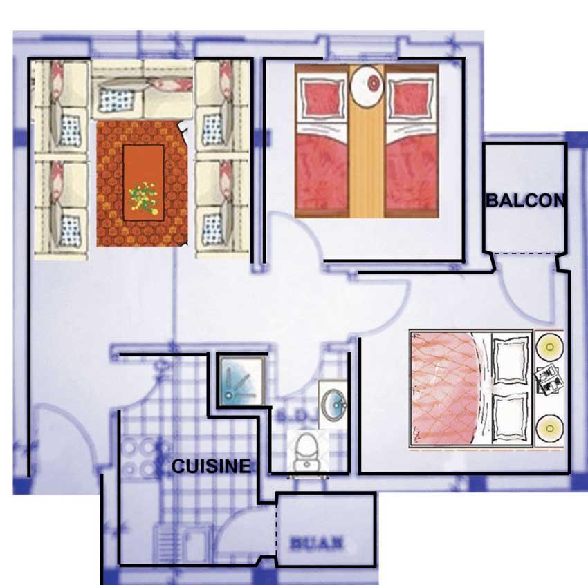 plan appartement maroc