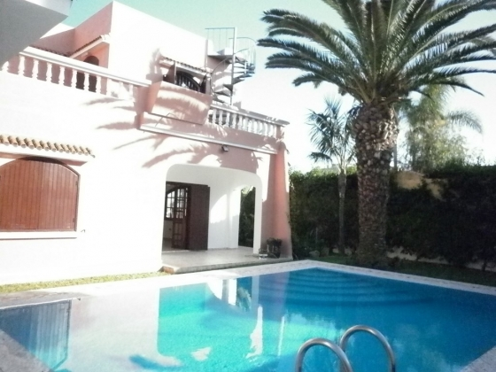 Villa  Louer  Mohammedia Maroc AvecPiscine Location Villa